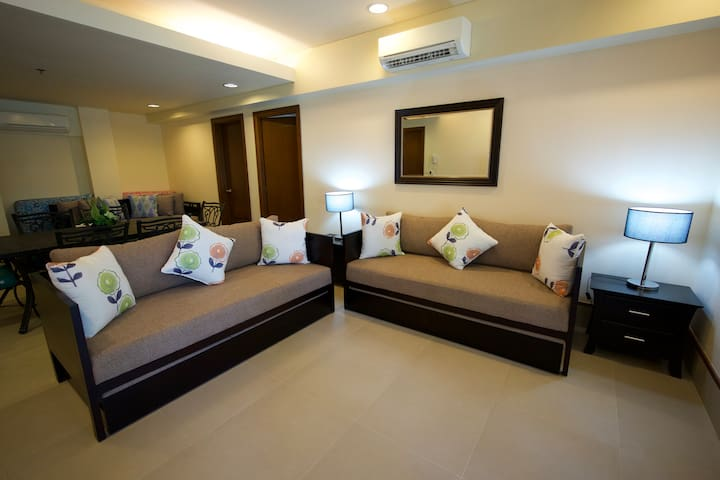 Living Area with 3 x sofa beds