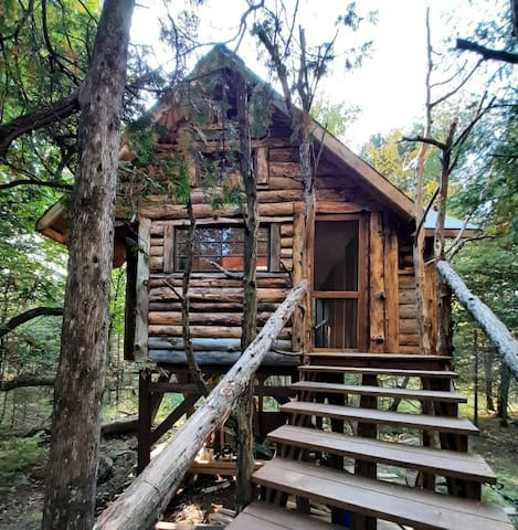 Relaxing, Rustic Adirondack Tree House Getaway