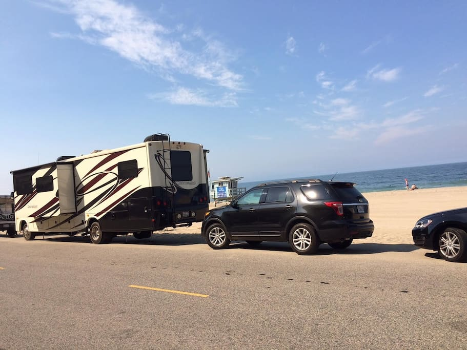 Enjoy the beach with this RV