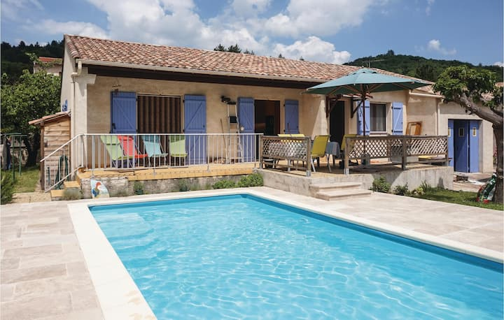 Beautiful home in Le Poujol sur Orb with Outdoor swimming pool and 3 Bedrooms