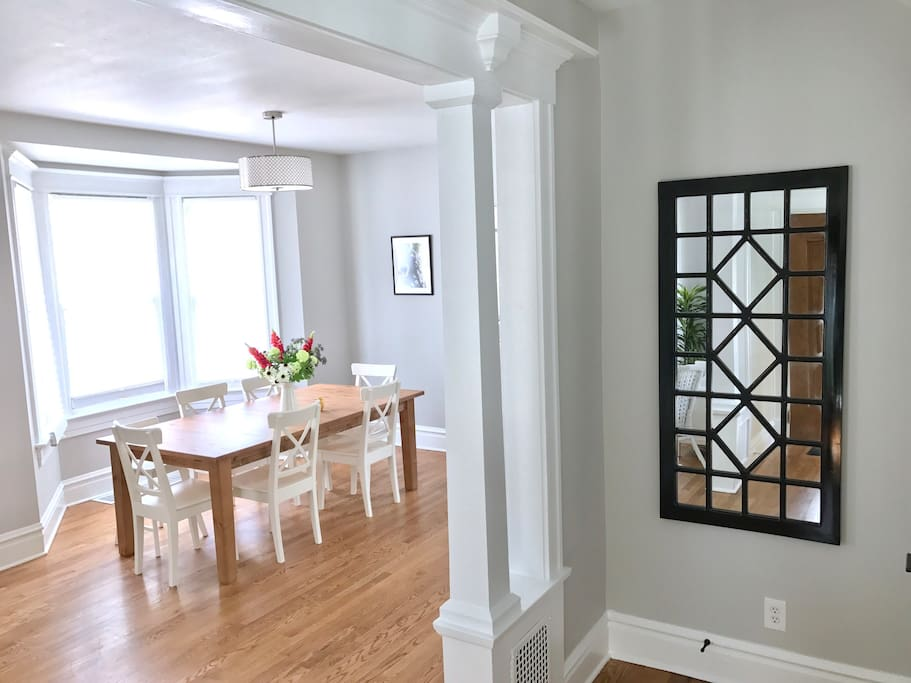 View of dining room from front entry