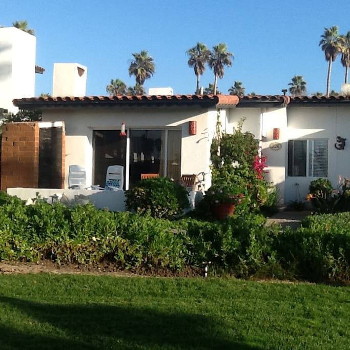 Front of casita, welcome