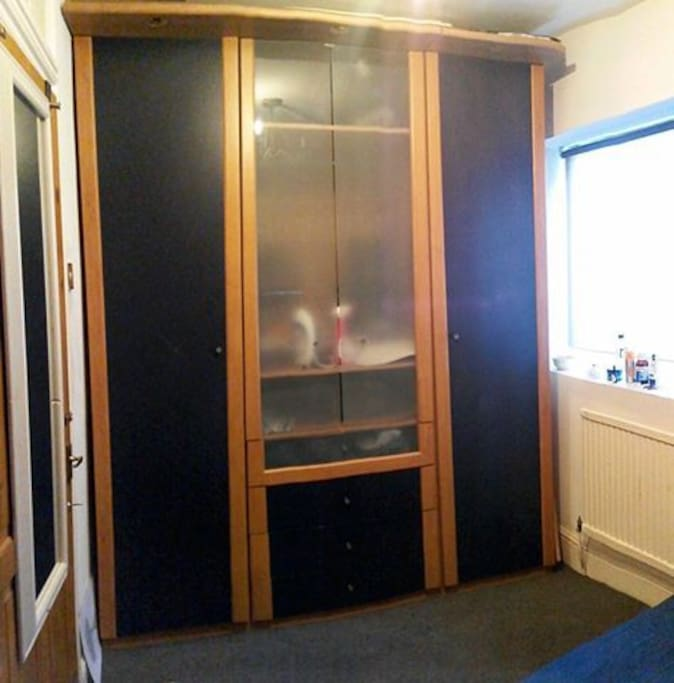 Cupboard space within the bedroom