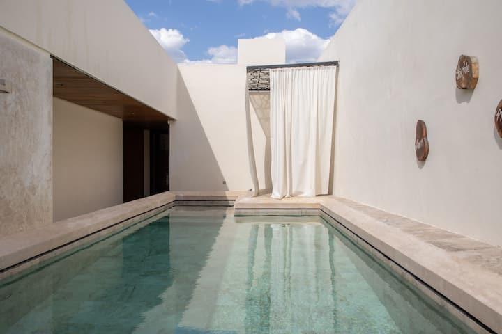 Hotel Agua de Ciénega, room 5, one bed