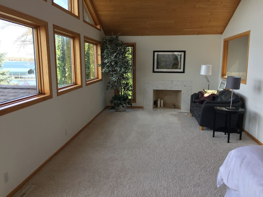 Master Suite With Fireplace Lake Views