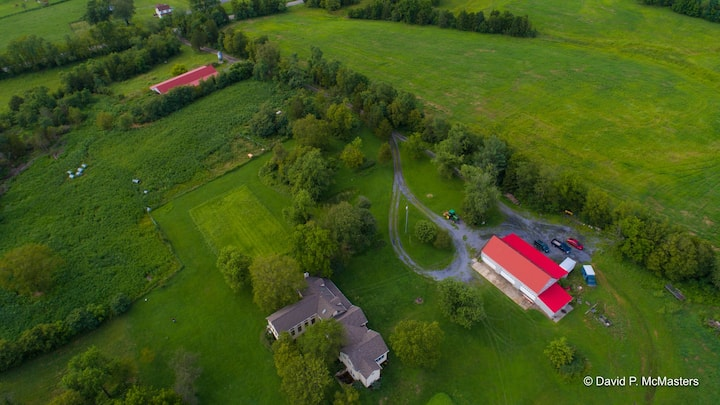 36-acre farm, with stunning modern farmhouse