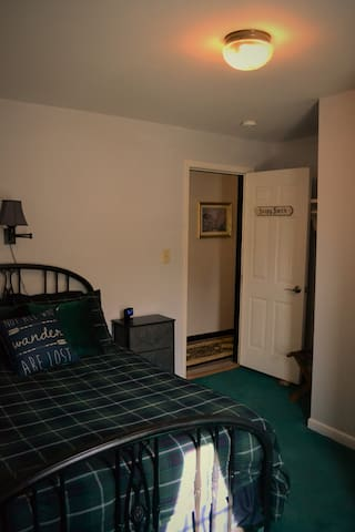 Soapy Smith Room - Full size bed, coffee maker and private bathroom.