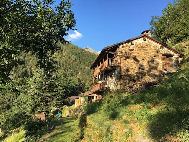Wilderness in piedmont alps  Lost Mountain house