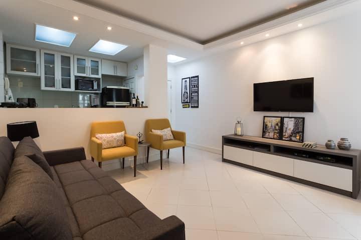 Apartamento 2 quartos em Ipanema! Maravilhoso!