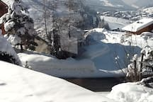 Winter view from chalet