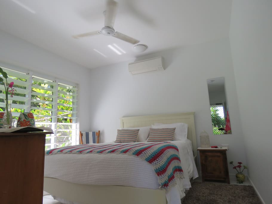 """""""The bed was the most comfortable we have ever slept in"""" - Linda Cool and airy bedroom."""