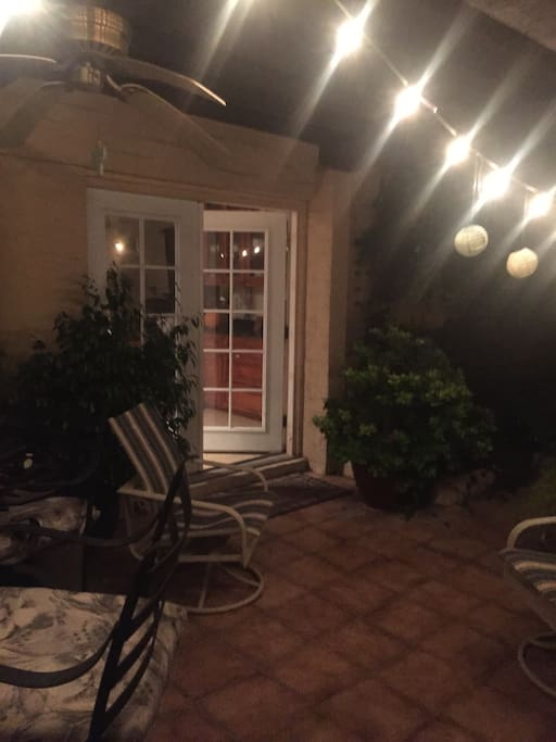 Out door patio with chimney
