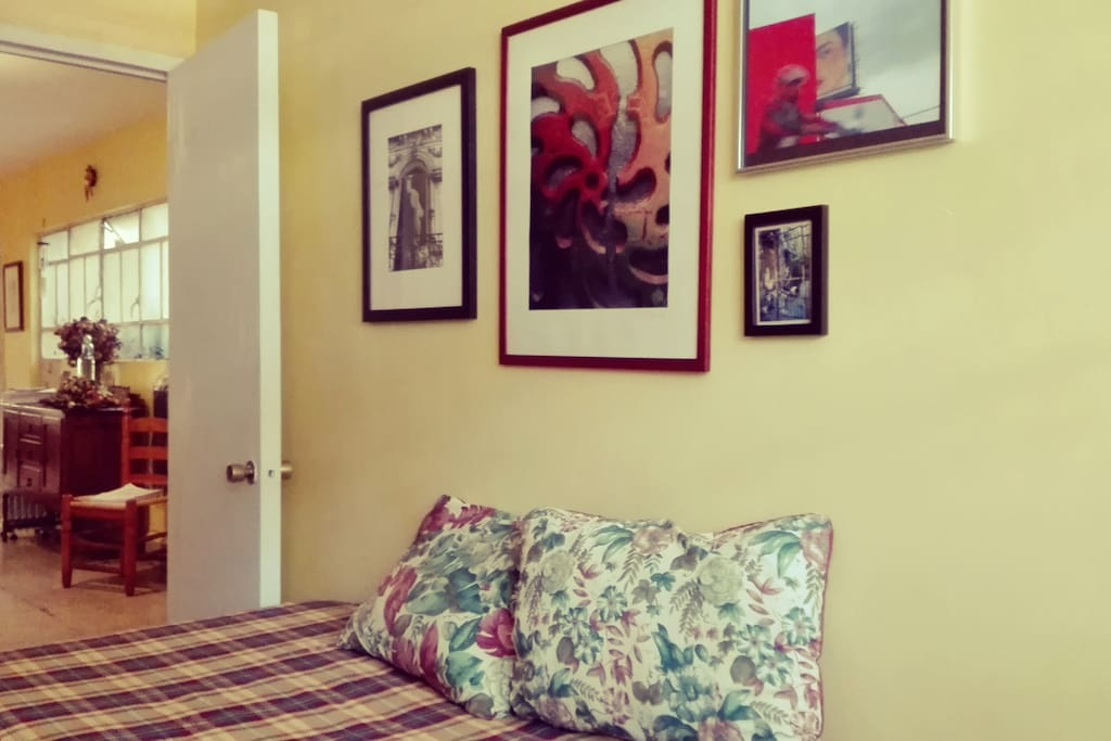 Your bedroom has lots of crafts and artsy details