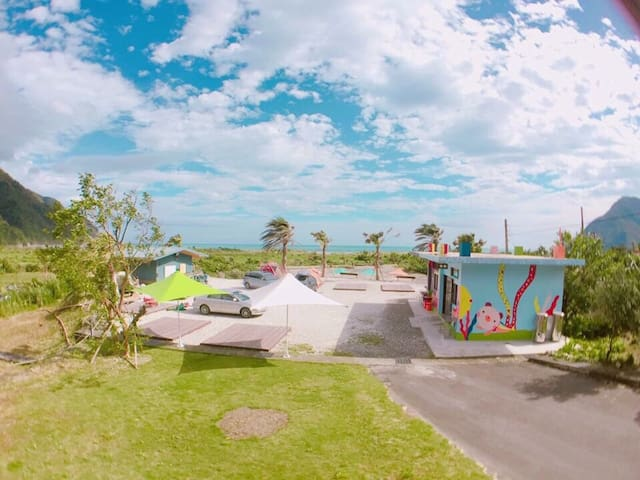 東澳海灣粉鳥林漁港獨立面海景觀小木屋