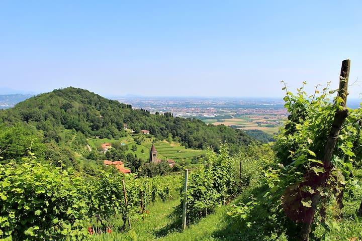 Stanza in casolare,vista stupenda   - Bergamo