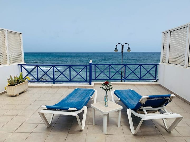 """Holiday Apartment """"Callao Beach 8"""" with Sea View, Terrace & Wi-Fi; Pets Allowed"""