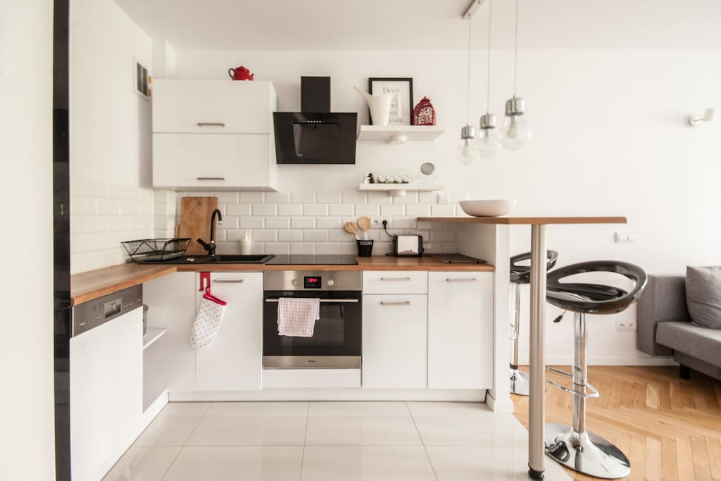Fully equipped Kitchen with everything you may need to prepare a tasty meal.