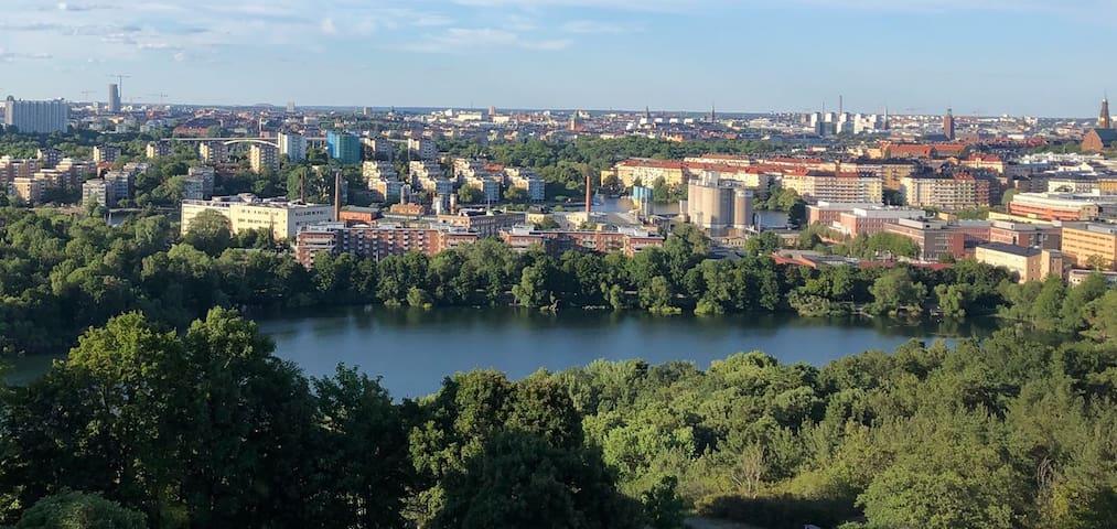 Otrolig utsikt över Stockholm