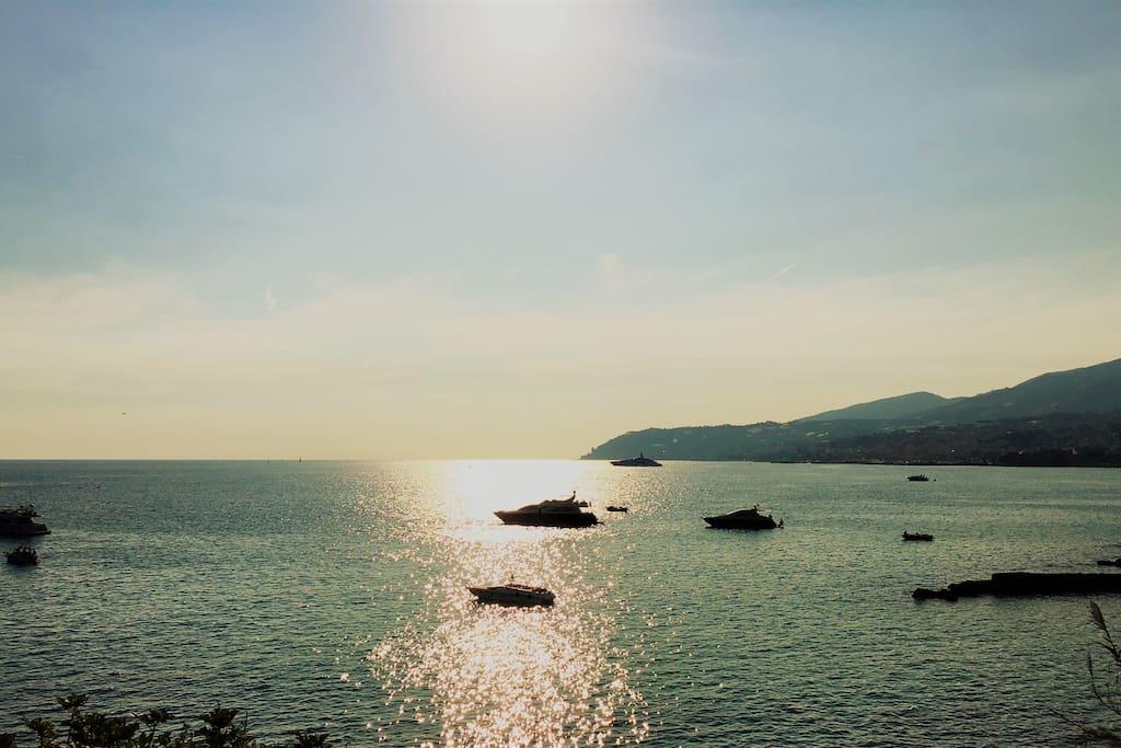 Il tramonto visto dalla ciclabile