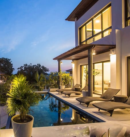 Pool and Terrace in the evening,
