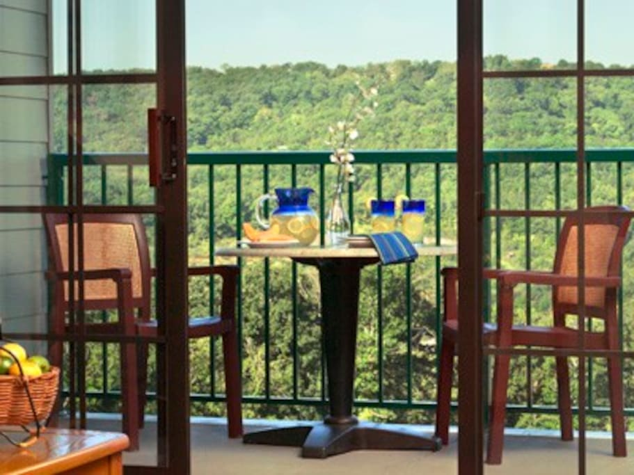 Relaxing getaway: just breathe... on your balcony or patio