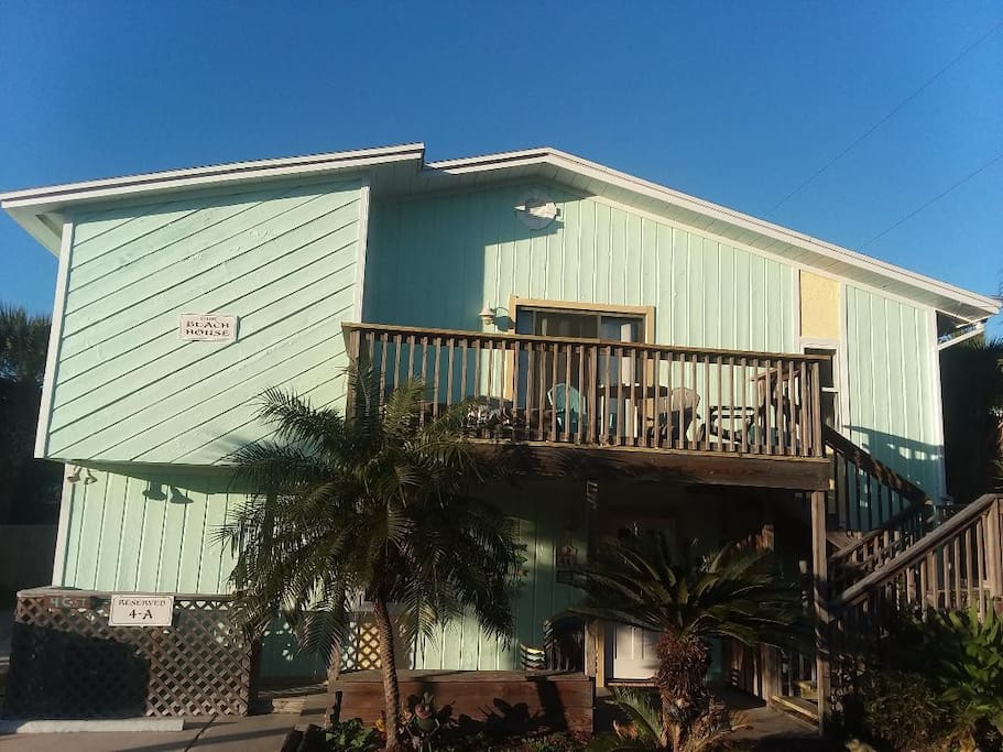 Welcome to your home away from home! 50 feet to the white sand of Anastasia Island, St. Augustine Beach! Primo location within a short walk to many of the best restaurants, shops and pubs and more at the beach.