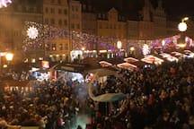 Window View - Christmas Market