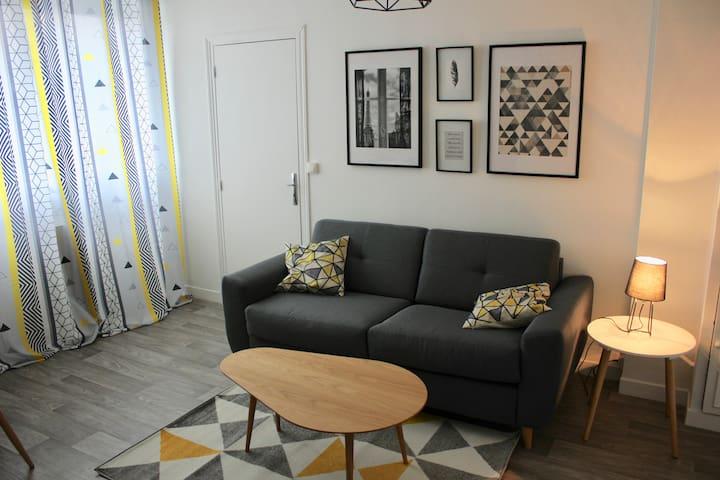 appartement 2 pieces tendance