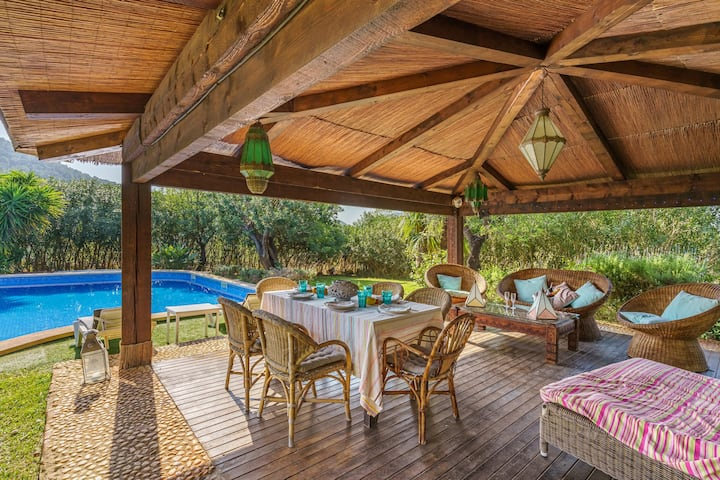 """Villa """"Ca Ses Nines"""" with Mountain View, Pool, Wi-Fi, A/C, Terrace & Garden; Parking Available"""