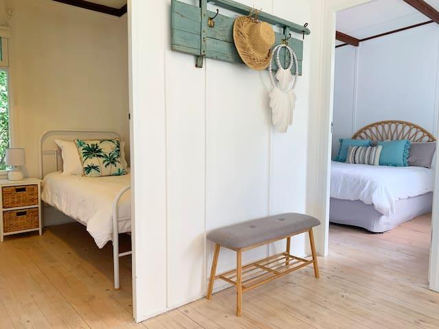Master bedroom and Single/bunk bedroom