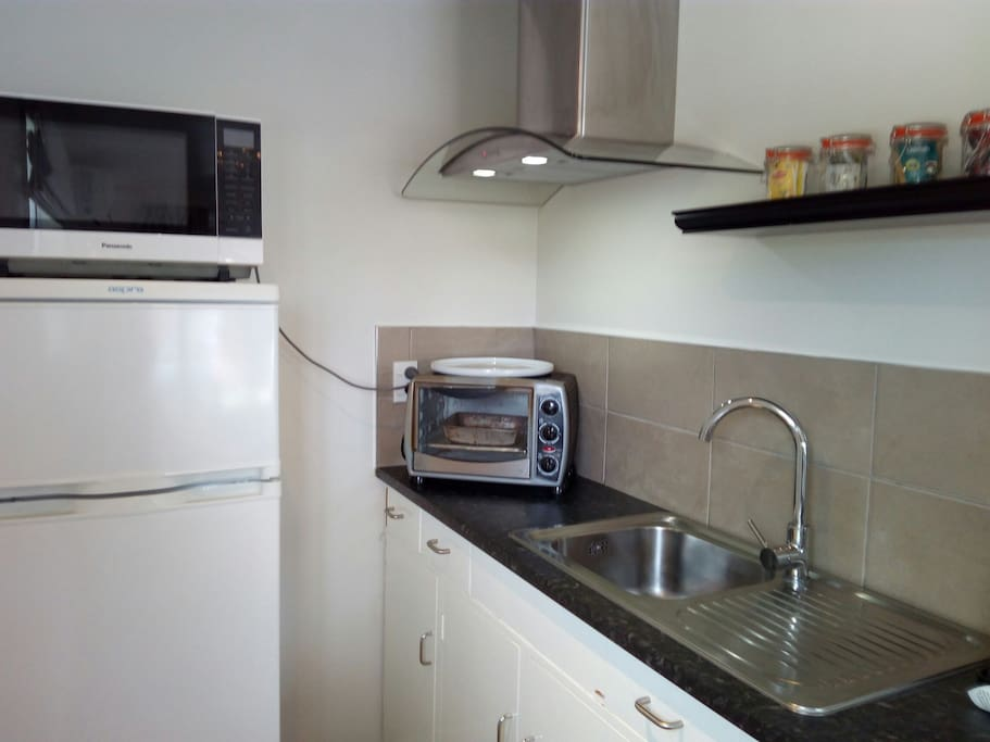 Kitchenette with tea and coffee facilities.