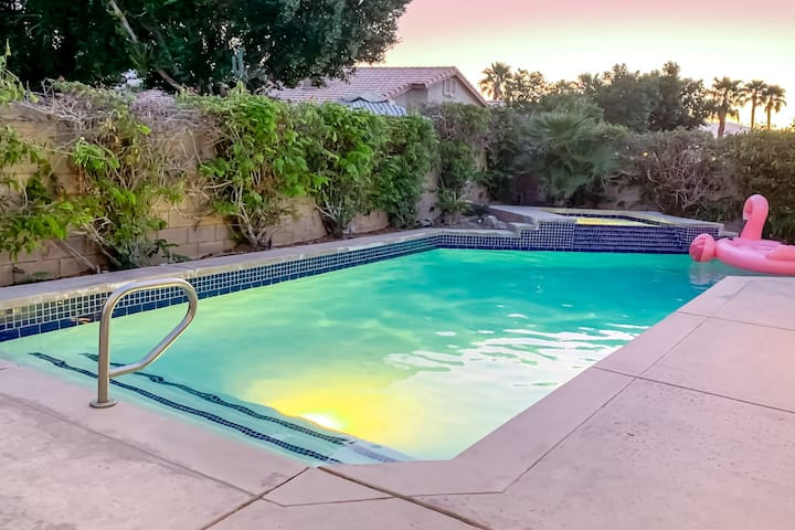 Bright desert home w/ private pool & spa, game room