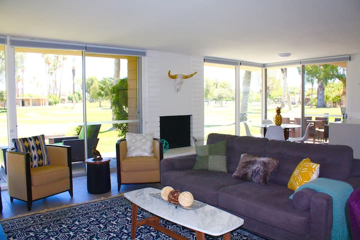 GLASS CONDO on Golf Course, 2 Master Suites! View! - Bermuda Dunes