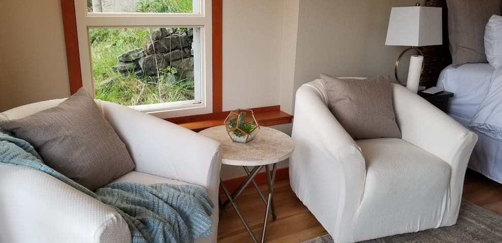 Swivel chair to take in the views