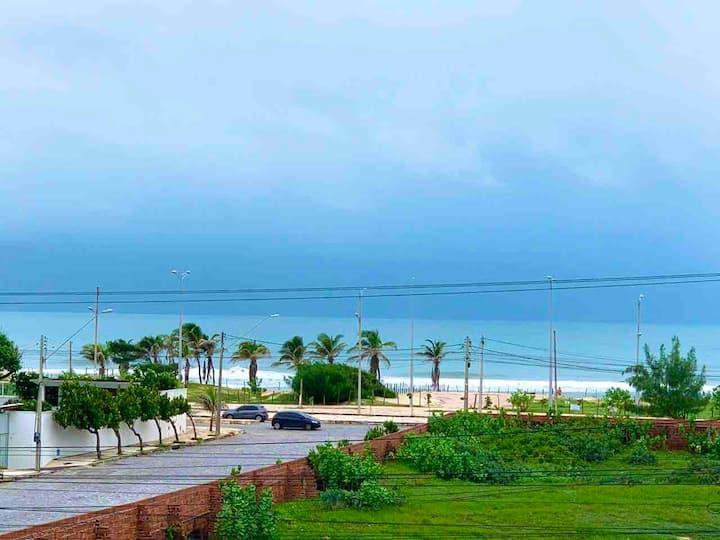 Frente Chico carangueijo, vista mar 100 mts praia.