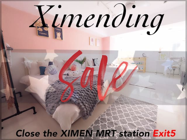 Ximen MRT Station Exit 5 3MIN@Best Location/1~4ppl