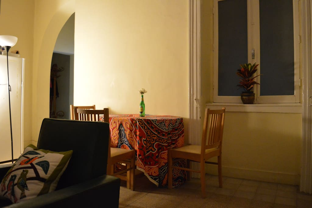 The living room at night