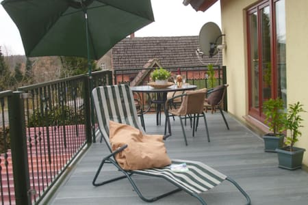 Charming Apartment Priepert 1 with Wi-Fi, Garden & Terrace; Parking Available; Pets Allowed
