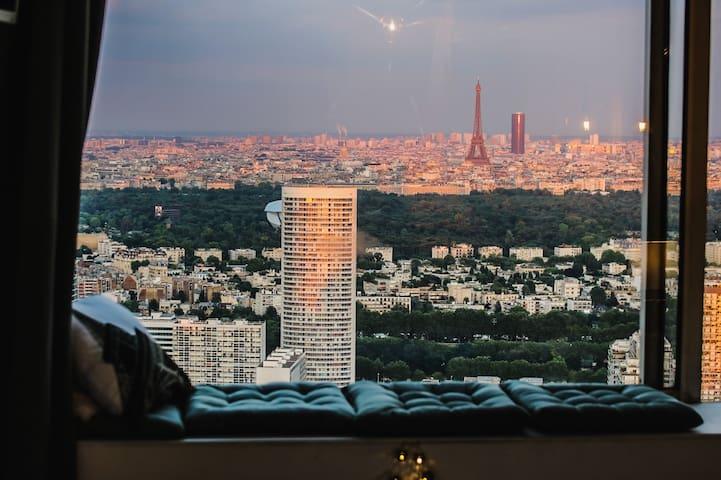 Studio haut standing & Vue Imprenable Sur Paris