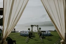 A sneak peek of the wedding.