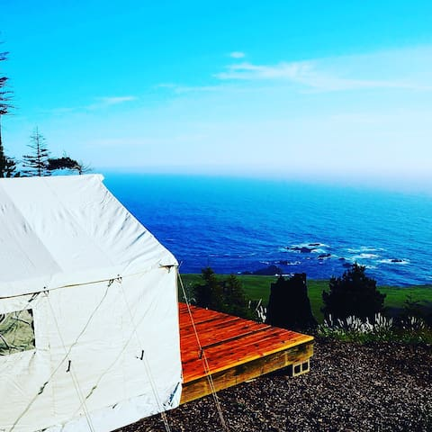 Glamping tent 400 feet above the Pacific Ocean - Stewarts Point