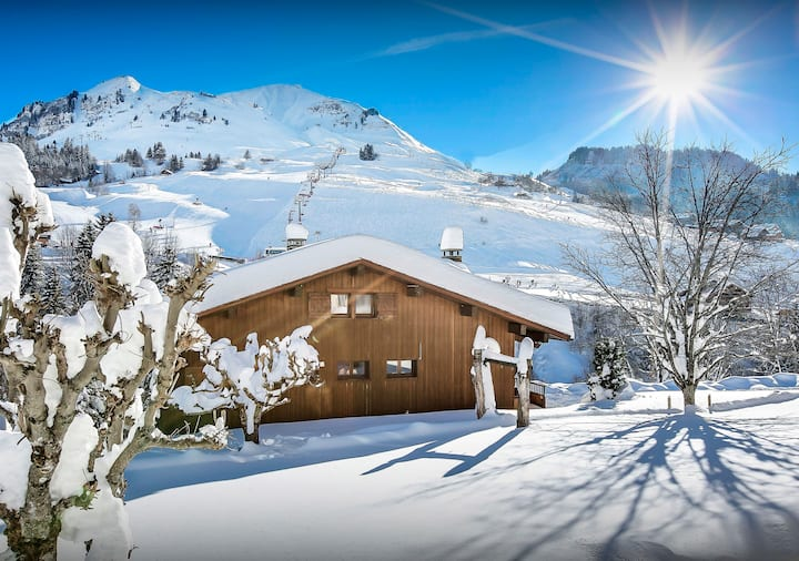Enjoy a sauna and watch a film at 4* chalet with piste views - OVO Network
