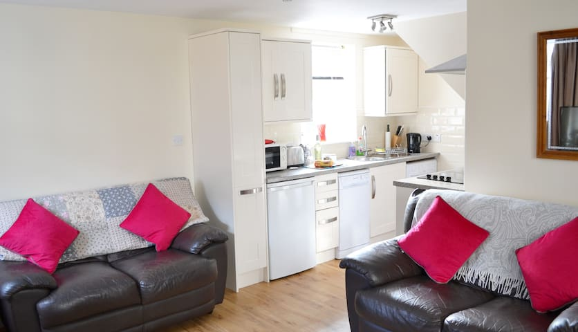 Kitchen open plan from living room