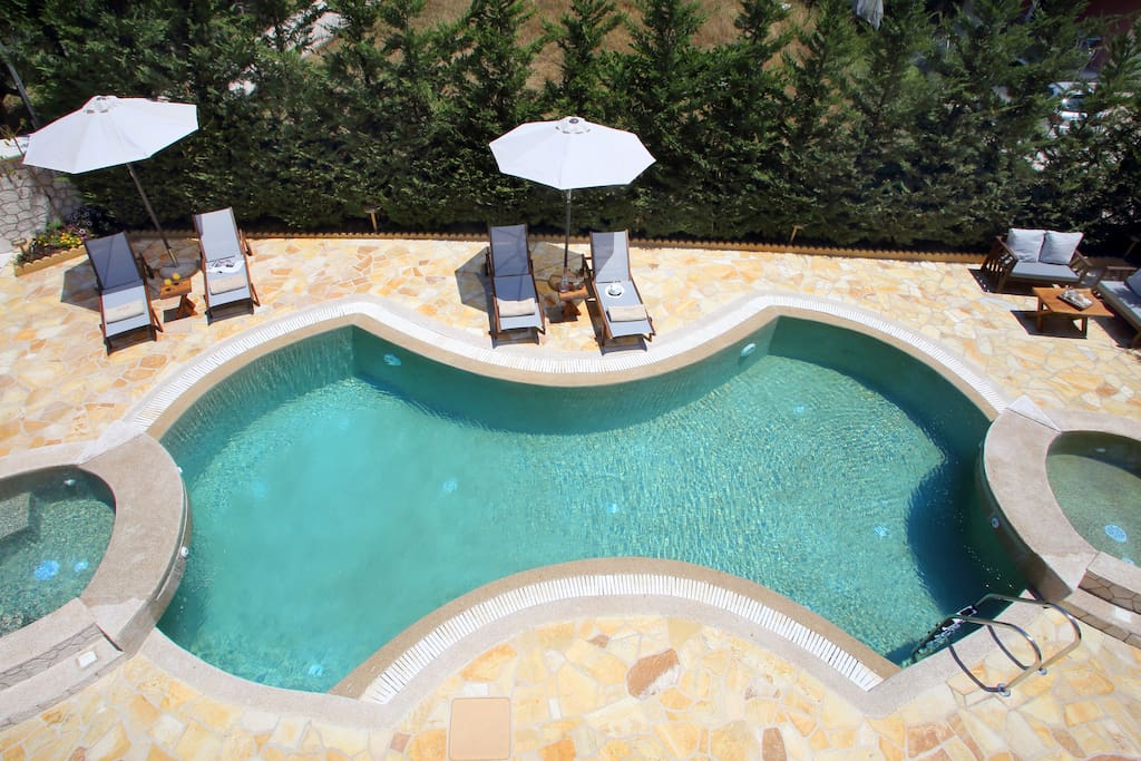 Take a lazy deep or two in this amazing pool!