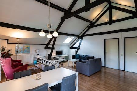 Ruim, karakteristiek appartement, groene omgeving