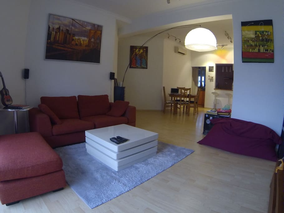"""Cozy and Spacious living room. Fully equipped with 47"""" Smart TV and high speed internet"""