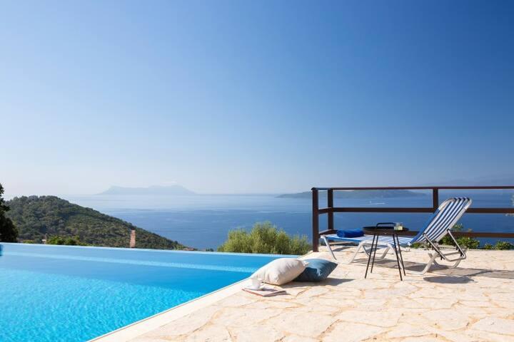 Villa Kalyvia - Endless Sea View on Sivota Hills and Ionian Islands