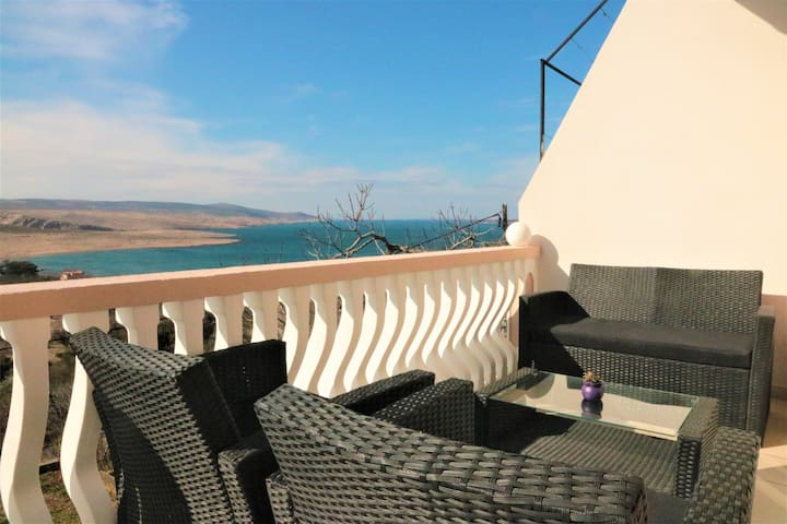 "Apartment ""Marina"" with nice sea view - Jasenice - Appartement"