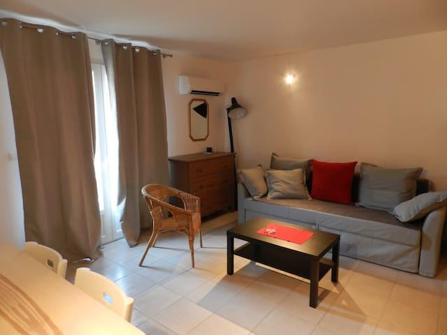 Studio tout équipé - neuf - calme - 38 m² au RDC - Six-Fours-les-Plages - Leilighet