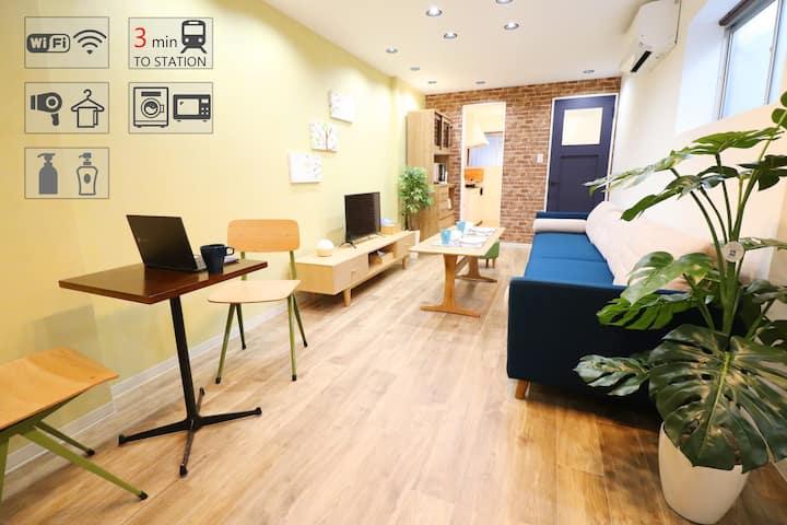 ☆Osaka Modern House☆3mins walk to Sta. Namba 8ppl☆